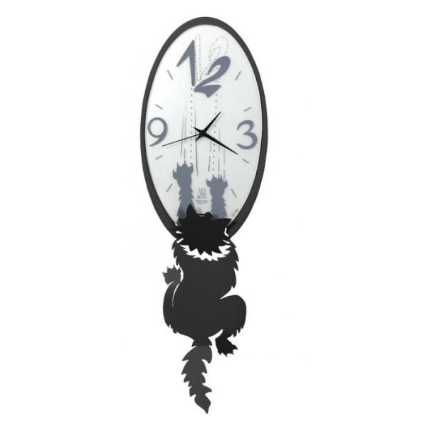 Orologio da parete gatto crazy tommy arti e mestieri for Arti e mestieri orologio da parete prezzi