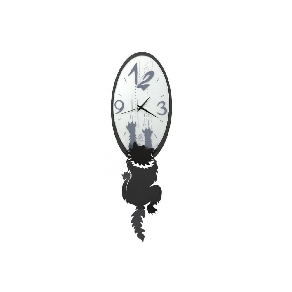 Orologio da parete gatto crazy tommy arti e mestieri for Idee per orologio da parete