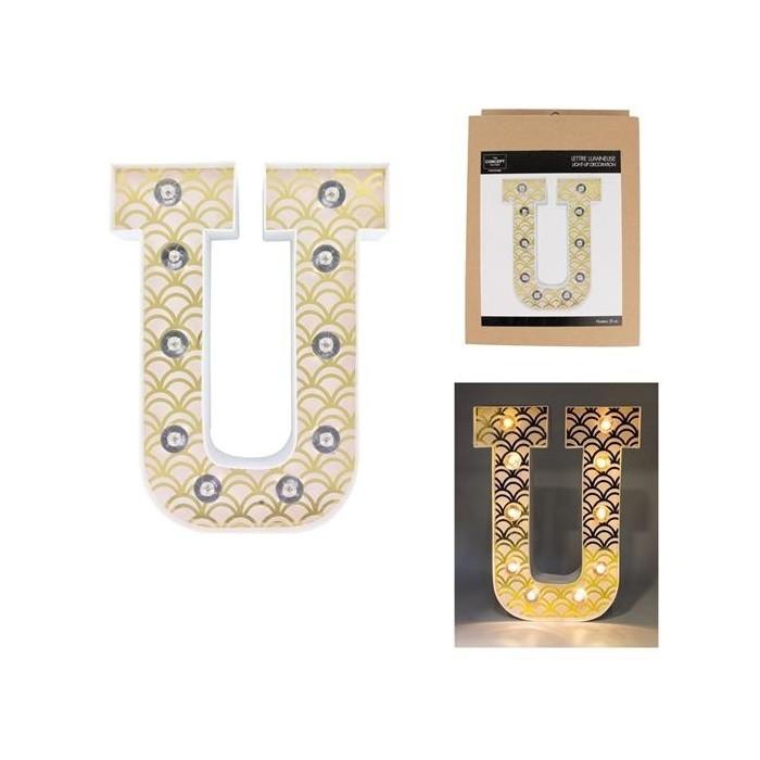 Lettera Luminosa A Led U Casa In Shop Negozio Di