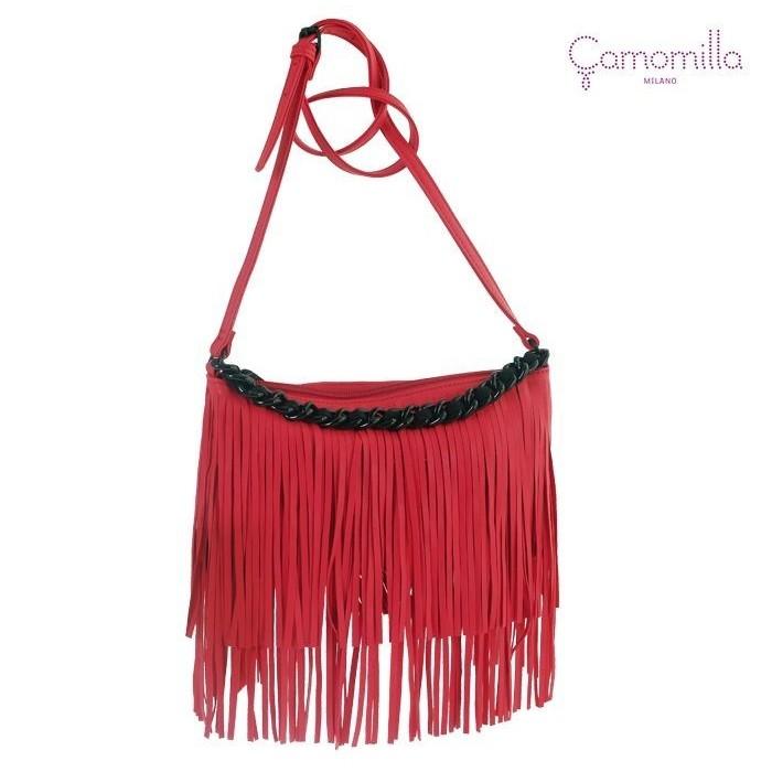 Borsa A Spalla Live Fringes RED Camomilla  1562341e267