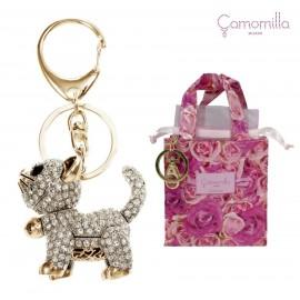 Portachiavi Cat Gold - oro Camomilla
