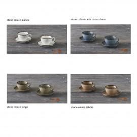 STONE set 2 Tazza caffè con piatto