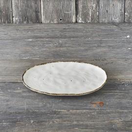 STONE vassoio ovale cm. 32 bianco