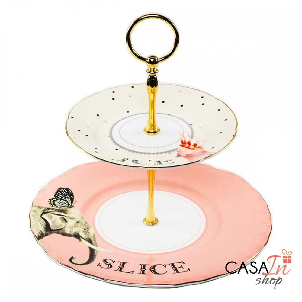 Alzata due piani - Ice & Slice - Elefante e Pappagallo ...