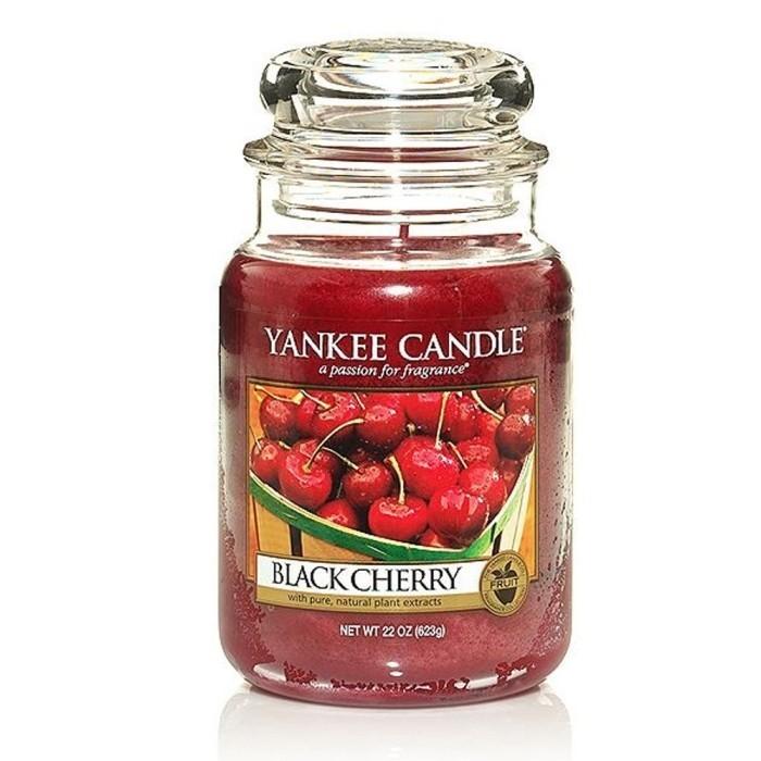 Candela grande BLACK CHERRY Yankee Candle